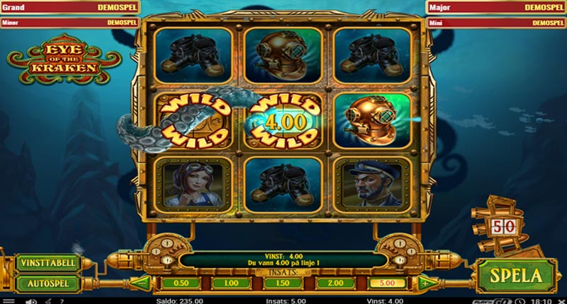 gameplay i eye of kraken med wild