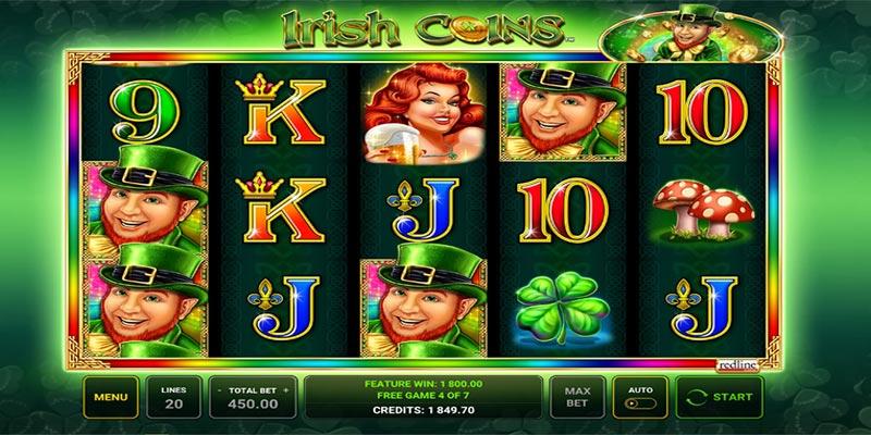 Spelplan för Irish Coins