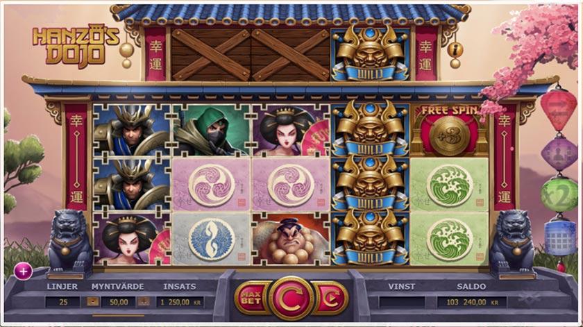 spelupplägg i Hanzos dojo